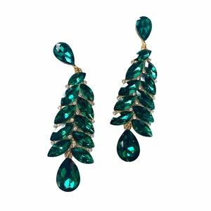 3 / $25 Emerald Gold Statement Earrings
